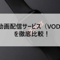 動画配信サービス(VOD)を徹底比較!